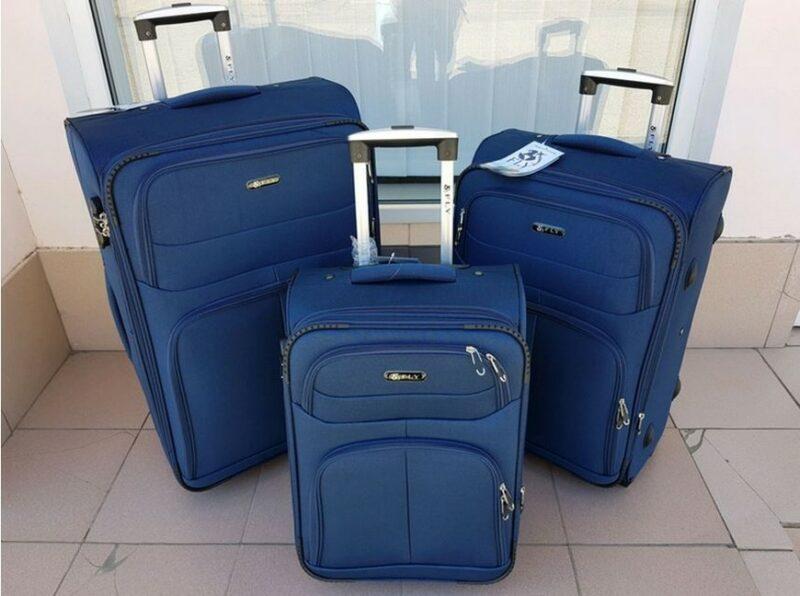 тканевые чемоданы на колёсиках