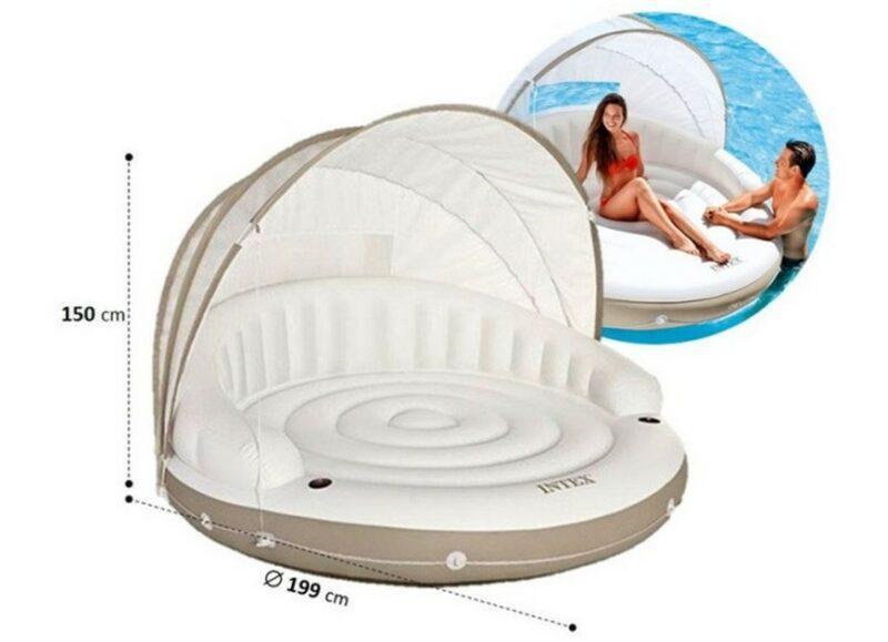 Intex 58292 – круглый диван с козырьком от солнца