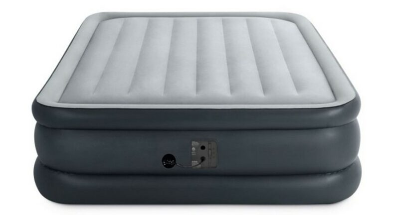 Intex Queen Dura-Beam Downy Airbed with Built-in Foot Pump