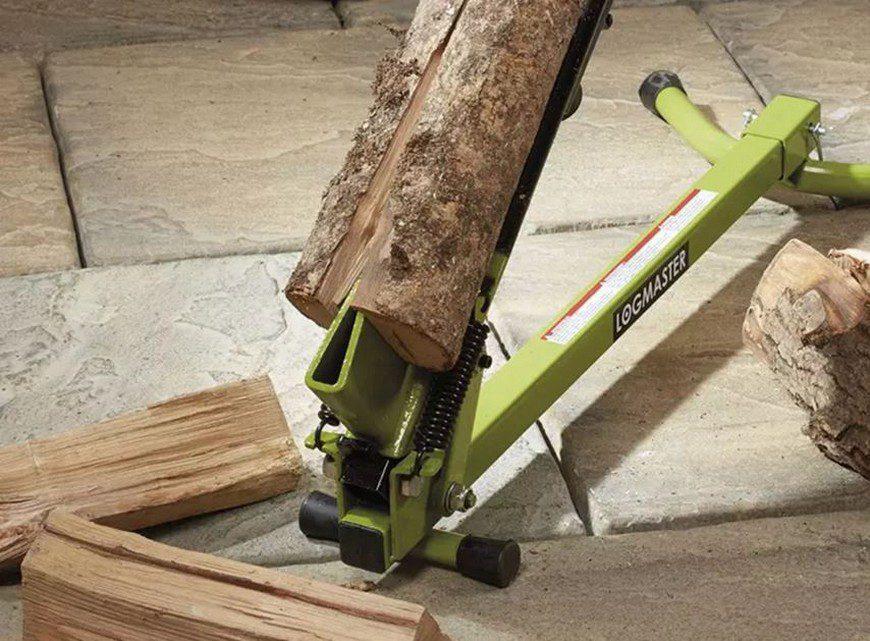 устройства для колки дров с ножным приводом