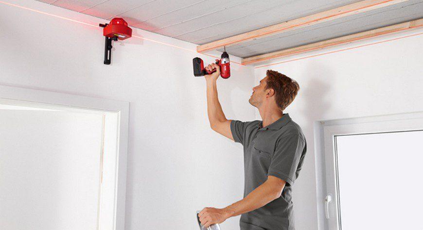 Лазерный нивелир для потолка