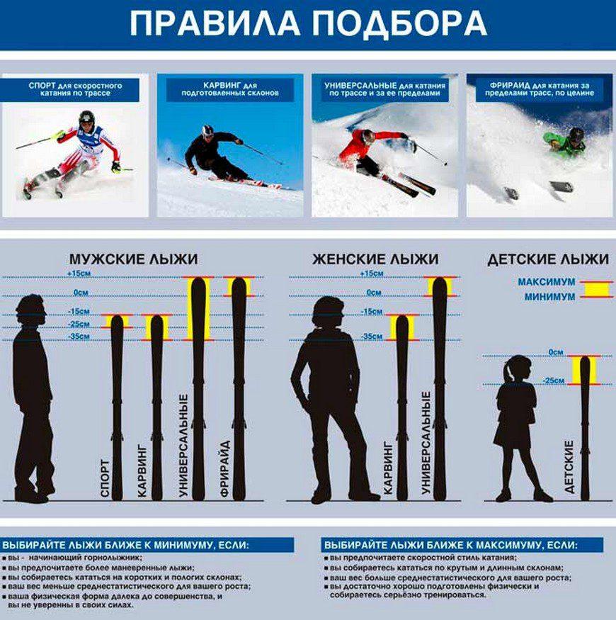 Как выбрать беговые лыжи по росту