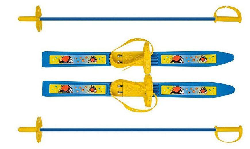 Олимпик Олимпик-спорт с креплениями, с палками снегири 66 см